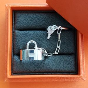 Hermes Alpha Kelly Double Ring, Size 53
